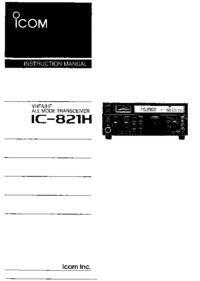 Руководство пользователя Icom IC-821H