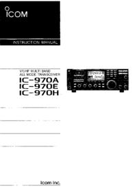 Bedienungsanleitung Icom IC-970E