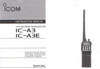 User Manual Icom IC-A3 IC—ABE