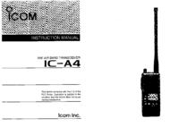 Instrukcja obsługi Icom IC—A4