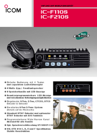 Datenblatt Icom IC—F110S
