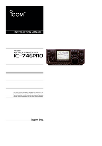 User Manual Icom IC-746Pro