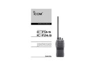 Manuel de l'utilisateur Icom IC-F24/S