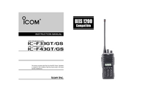 User Manual Icom IC-F33GT