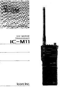 Manual del usuario Icom IC-M11
