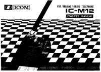 Manual do Usuário Icom IC-M12