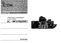 Gebruikershandleiding Icom IC-M126DSC