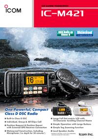 Gegevensblad Icom IC-M421