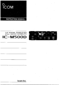 User Manual Icom IC-M500D
