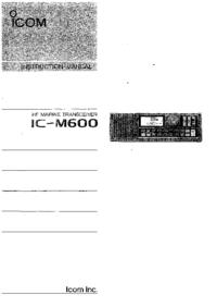 Bedienungsanleitung Icom IC-M600