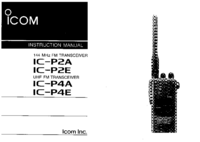 User Manual Icom IC-P4E