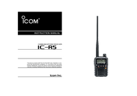 Manual del usuario Icom IC-R5