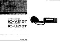 Manual del usuario Icom IC-U210T