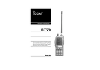 Manual del usuario Icom IC-V8
