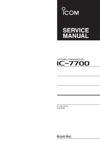 Service Manual Icom IC-7700