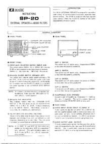Service and User Manual Icom SP-SO