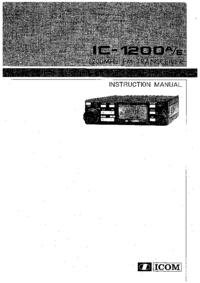 Service et Manuel de l'utilisateur Icom IC-1200E