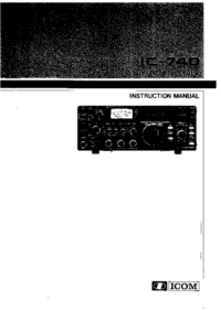 Service and User Manual Icom IC-740