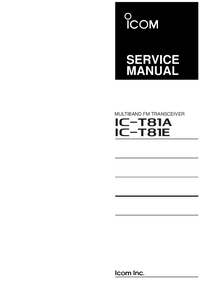 Manual de servicio Icom IC-T81E