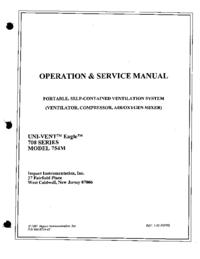 Service et Manuel de l'utilisateur Impact UNI-VENT™ Eagle™ 754M