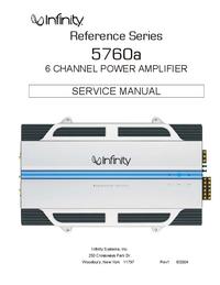 Руководство по техническому обслуживанию Infinity 5760a