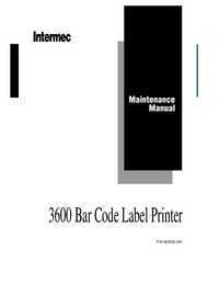 Manual de servicio Intermec 3600