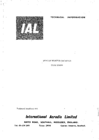 Servicehandboek InternationalAeradio IA8509