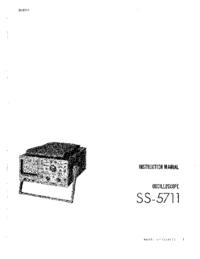 Service Manual Iwatsu SS-5711