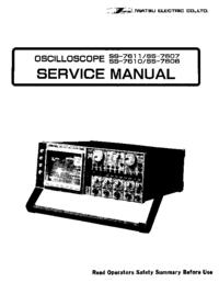 Manual de serviço Iwatsu SS-7606