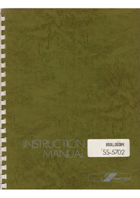 Service and User Manual Iwatsu SS-5702