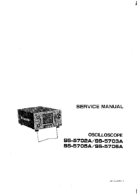 Service and User Manual Iwatsu SS-5702A
