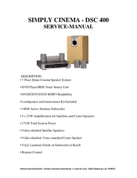 Manual de servicio JBL DSC 400