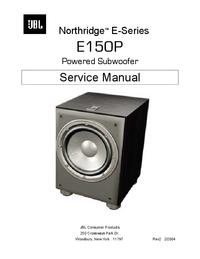 Manual de servicio JBL E150P