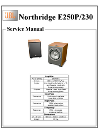 manuel de réparation JBL Northridge E250P