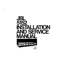 Manual de servicio JBL 5152