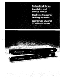 Manual de servicio JBL 5234