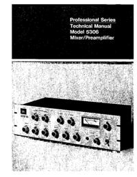 Руководство по техническому обслуживанию JBL 5306