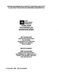 Servicehandboek JBL 5330