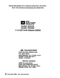 Manual de serviço JBL 5549A