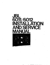 Service and User Manual JBL 6011
