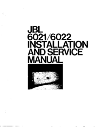 Manual de serviço JBL 6021