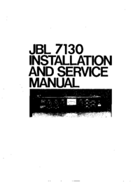 Service et Manuel de l'utilisateur JBL 7130