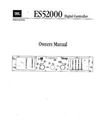Service- und Bedienungsanleitung JBL ES52000
