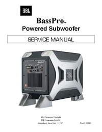 Руководство по техническому обслуживанию JBL BassPro