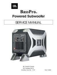 Service Manual JBL BassPro