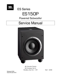 Manual de serviço JBL ES150P