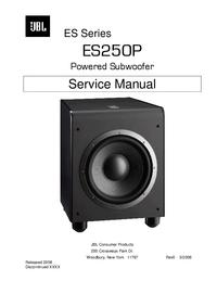 Руководство по техническому обслуживанию JBL ES250P