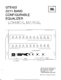 Руководство по техническому обслуживанию JBL GTE422