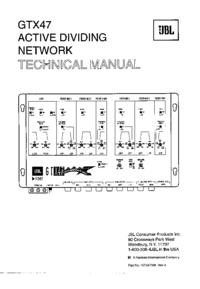 Manual de serviço JBL GTX47