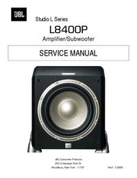 manuel de réparation JBL Studio L8400P